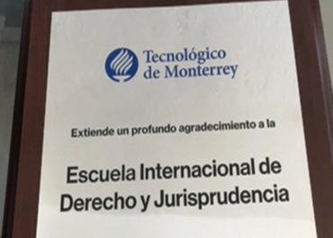 Tec de Monterrey entrega reconocimiento a la EIDJ por el apoyo que se le brindó